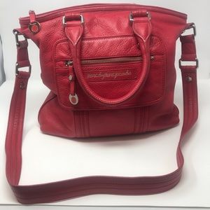 Marc Jacobs Red Leather Crossbody Tote Bag